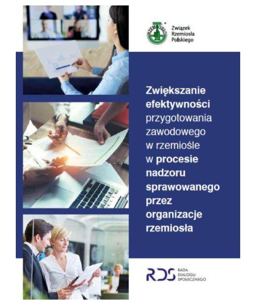 PUBLIKACJA ZRP zawierająca zbiór podstawowych informacji prawnych iorganizacyjnych, związanych zprocesem szkolenia uczniów  – młodocianych pracowników – upracodawców rzemieślników orazkilka stosowanych wtym zakresie wzorów dokumentów.